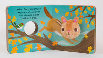 OUT OF STOCK/UNAVAILABLE Baby Chipmunk Finger Puppet Book