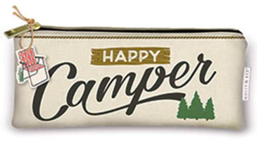 OUT OF STOCK/UNAVAILABLE Happy Camper Pencil Bag