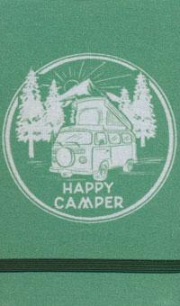 Linen Top Happy Camper Notebook