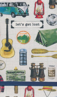 Linen Top Let's Get Lost Notebook