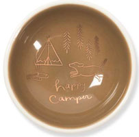 OUT OF STOCK/UNAVAILABLE Happy Camper Trinket Dish with Dog