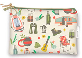 OUT OF STOCK/UNAVAILABLE Zippered Utility Bag with Camping Icons 12845