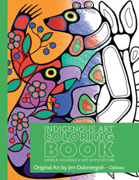 OUT OF STOCK/UNAVAILABLE Indigenous Art Colouring Book - Jim Oskineegish