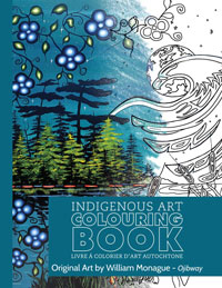 OUT OF STOCK/UNAVAILABLE Indigenous Art Colouring Book - William Monague