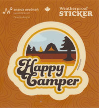 Happy Camper Retro Sticker