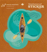 OUT OF STOCK/UNAVAILABLE Kayak Sticker