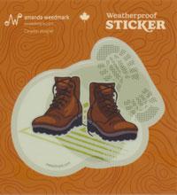Hiking Boots Sticker