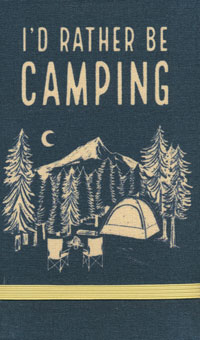 Linen Top I'd Rather Be Camping Notebook