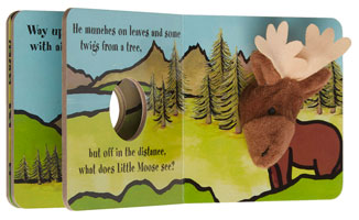 OUT OF STOCK/UNAVAILABLE Little Moose Finger Puppet Book