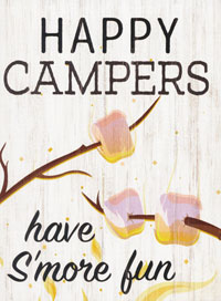Block Sign, Happy Campers Have S'more Fun 12122