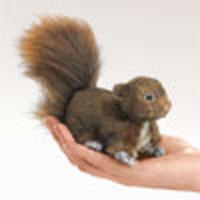 Mini Red Squirrel Finger Puppet
