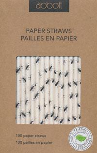 Ant Print Paper Straws