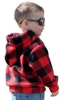 Child 1/4 Zip Buffalo Check Plaid Hoodie