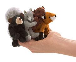 Mini Woodland Animals Finger Puppet Set