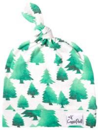 Newborn Baby Top Knot Hat - Forest
