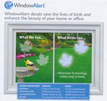 Maple Leaf Window Alert Decals