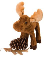 OUT OF STOCK/UNAVAILABLE Lumberjack Moose Stuffed Animal