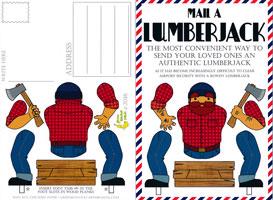 Mail A Lumberjack Postcard