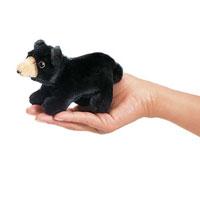 Mini Black Bear Finger Puppet