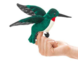 OUT OF STOCK/UNAVAILABLE Mini Hummingbird Finger Puppet
