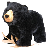 OUT OF STOCK/UNAVAILABLE Morley Black Bear Stuffed Animal
