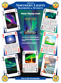 Northern Lights, Rainbows and Sunsets Playing Card Deck