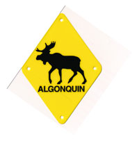 Moose Crossing Sign Small