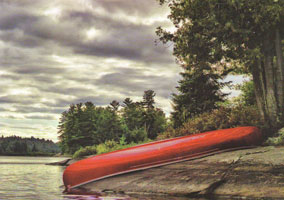 #73.  Red Canoe