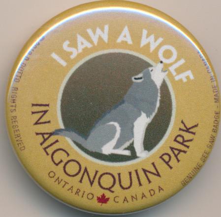I Saw a Wolf See Saw Badge