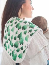 Woodland Baby Burp Cloth Set